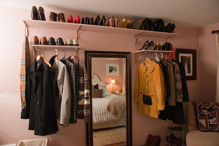 Интерьер самодельной гардеробной